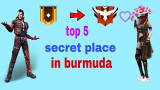 Top 5 secret/hidden place || how to increase rank in free fire || rank push tips and tricks