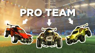We challenged a pro Rocket League team (top 3 in the world) and it didn't go terribly...