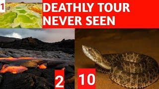 Top 10 BEAUTIFUL BUT DANGEROUS TO VISIT THE TOURIST PLACE|RISKY TOUR