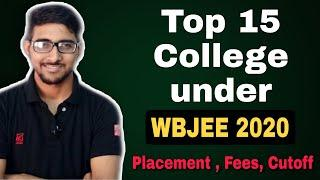 Top 15 College Under wbjee 2020 | Top college Kolkata | Rank vs college | Placement , Fees , cutoff
