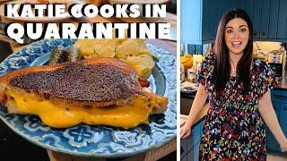 Katie Lee Makes Grilled Cheese with Bacon in Quarantine | Food Network