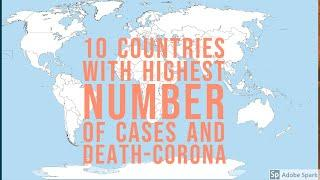 Covid-19 corona virus world wide top 10 country highest case and death before 03-25-2020