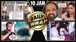 Salman Khan's NEW Movie,Janhvi Kapoor's Auto Ride, Sara Ali Khan AMAZING Workout Video   Top 10 News