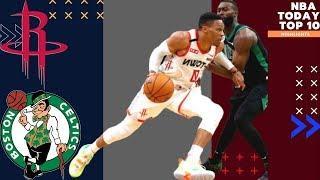 Houston Rockets vs Boston Celtics   Top 10 Moments NBA Basketball Today's Highlights 2020 HD