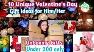 10 Unique Valentine's day❤ gifts Ideas for Him/Her & Home decor Ideas 2020/ flipkart home decor haul