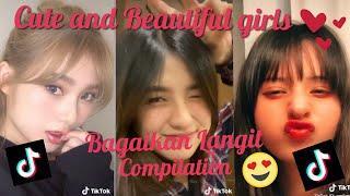 TOP 10 BAGAIKAN LANGIT  - Cute and Beautiful Girls in Tiktok Compilation 2020 Part 2 (Face Zoom)