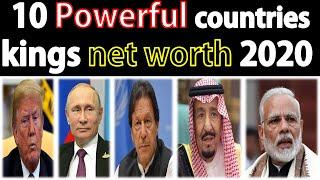 Who is richest president/prime minister in Top 10 powerful countries in 2020