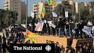 WATCH LIVE: The National for Tuesday, Dec. 31 — Violent Iraq protests and Montreal travel delays