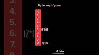 TOP 10 KPOP GIRL GROUP
