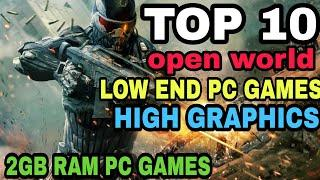 Top 10 Open World Low Pc Games | 2Gb Ram Pc Games | High Graphics | TBGW