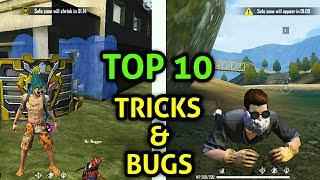 FREE FIRE TOP 10 TRICKS & BUGS PRO PLAYERS USING TRICKS  MALAYALAM HIDDEN PLACE GLOOWALL TRICKS