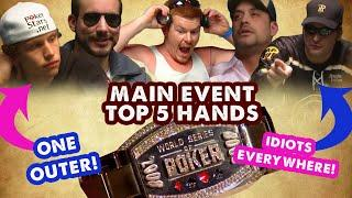 2008 WSOP Main Event - Top 5 Hands | World Series of Poker