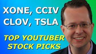 XONE, CCIV, CLOV, TSLA - Top 10 YouTuber Stock Picks for Monday, February 22, 2021 - Part 1