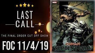 The Last Call: Top 10 FOC (Final Order Cut Off) Comic Books  11/4/19