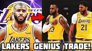 Los Angeles Lakers GENIUS TRADE PLAN For Chris Paul! New BIG 3 with LeBron James & Anthony Davis!