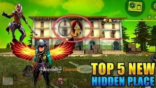 Top 5 New Hidden Places In Free fire [In Rank]   Hiding Place in Freefire 2020