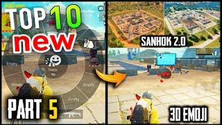 TOP 10 NEW FEATURES IN PUBG MOBILE | Part - 5 | Pubg New Update