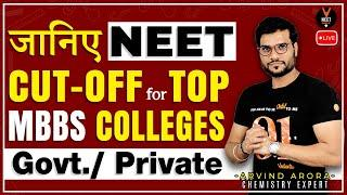 Expected NEET Cut Off for Top MBBS Government College and Private College |NEET Strategy |Arvind sir