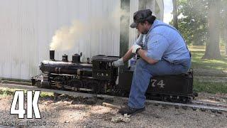 4K Live Steam: Illinois Central 574 at the Prairie State Railroad Club