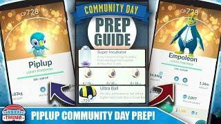 START NOW! TOP TIPS FOR SHINY *PIPLUP* COMMUNITY DAY PREP - 1/4 EGG HATCH & EMPOLEON   POKÉMON GO