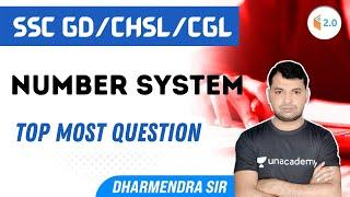 SSC Exams 2021   Maths by Dharmendra Sir   Number System   Top Questions