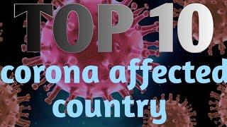 Corona virus /top 10 most affected country of the world.