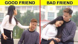 FAKE Friends vs REAL Friends! There are 2 types of people! BE A GOOD FRIEND || by GLASSES MEDIA