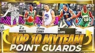 RANKING THE TOP 10 BEST POINT GUARDS IN NBA 2K21 MYTEAM!! 2K21 BEST POINT GUARDS!!