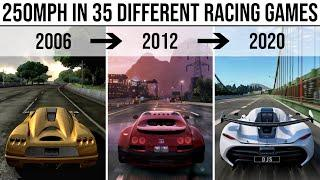 This is what 250MPH looks like in 35 DIFFERENT RACING GAMES!!! 2006 - 2020