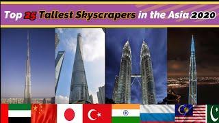 #tallestskyscraper #asia Top 25 Tallest Building in Asia 2020