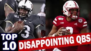 Top 10 Disappointing Quarterbacks from the 2019 College Football Season