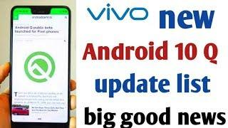 Vivo Release Android 10 update । Android 10 top features । Devices name