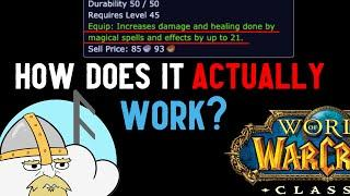 WoW Classic - how does spell power ACTUALLY work?