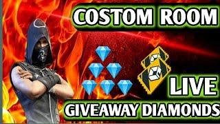 Garena Free Fire Live CUSTOM ROOM & 2000 DIAMONDS GIVEAWAY | FF LIVE | Rank Push To Heroic