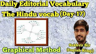 Daily editorial vocabulary series | day-17 | The hindu newspaper vocabulary series | graph method