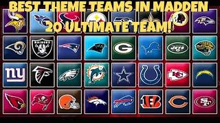 BEST THEME TEAM? RANKING THE TOP 10 THEME TEAMS IN MADDEN 20 ULTIMATE TEAM! FEBRUARY RANKINGS!