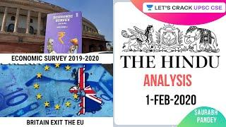 1-Feb-2020 | Daily Current Affairs | The Hindu Analysis | UPSC CSE 2020/2021/2022 | Saurabh Pandey