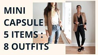 WORK FROM HOME Minimalist Capsule Wardrobe: 5 Items 8 Outfits | Lookbook Comfy & Chic