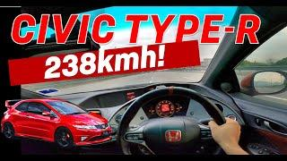 Honda Civic Type R POV Review - TOP SPEED on Lekas Highway