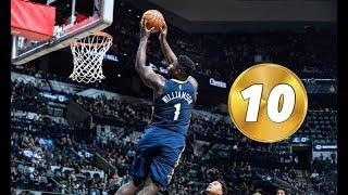 Zion Williamson Top 10 Dunks of Rookie Year