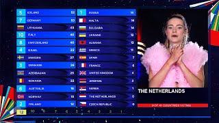 Eurovision 2020 LIVE - Jury Voting - The Netherlands  9/41 - HD