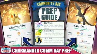 PREP NOW! TOP TIPS FOR SHINY *CHARMANDER* COMMUNITY DAY PREP - 3X CATCH DUST | Pokémon GO
