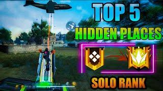 TOP 5 HIDDEN PLACE IN FREE FIRE ! TOP 10 HIDE PLACE IN BERMUDA MAP ! RANK PUSH TIPS ! PRO UIVERSITY