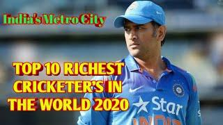 Top 10 Richest Cricketer in the World  2020 (IMC India's Metro City)