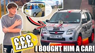 I BOUGHT MY BROTHER A CAR FOR HIS 18TH BIRTHDAY!! (and I transformed it!)