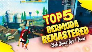 TOP 5 Bermuda remastered clash squad tips and tricks || Secret place in clash squad || Free fire