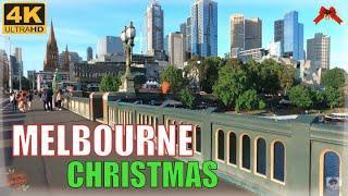 MELBOURNE CITY CENTRE TOUR CHRISTMAS 2019  MELBOURNE AUSTRALIA 4K