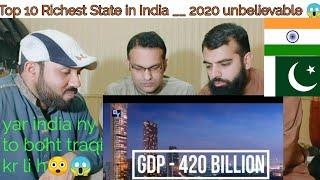 Top 10 Richest State in India __ 2020 must watch Pakistani reaction