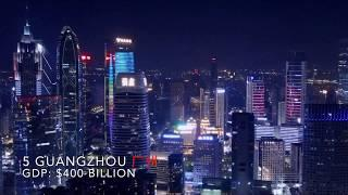 Amazing! Night View Of Top 10 Richest Cities In China !