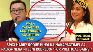 """SPOX HARRY ROQUE HINDI NAKAPAGTIMPI AT SINUPALPAL SI LENI ROBREDO! / """"SANA MAY SOLUTION KA TALAGA!"""""""
